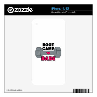 Boot Camp Babe Skin For iPhone 4