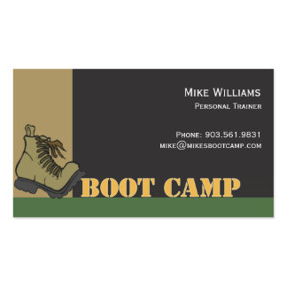 Boot Camp - black Business Cards