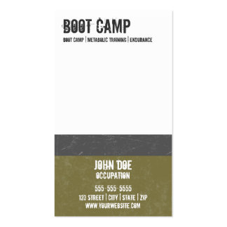 Boot Camp Business Card