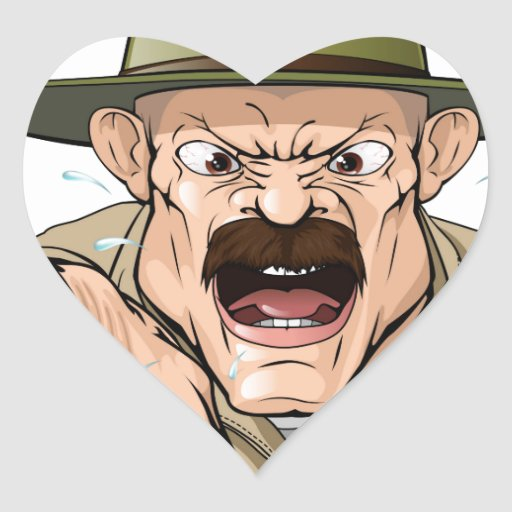 Boot Camp Drill Sergeant Heart Stickers