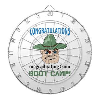 BOOT CAMP GRADUATE DARTBOARD WITH DARTS