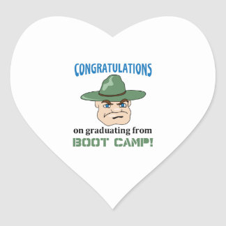 BOOT CAMP GRADUATE HEART STICKER