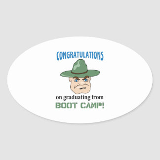 BOOT CAMP GRADUATE OVAL STICKERS