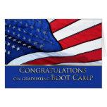 Boot Camp Graduation Congratulations- American Fla Greeting Card