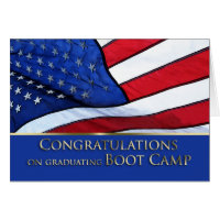 Boot Camp Graduation Congratulations- American Fla Card