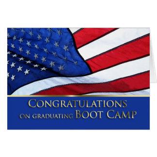 Boot Camp Graduation Congratulations- American Fla Card
