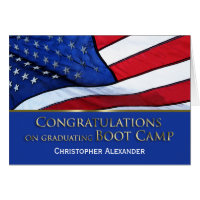 Boot Camp Graduation Congratulations-U.S.Flag Card