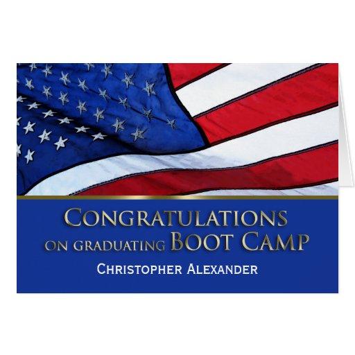 Boot Camp Graduation Congratulations-U.S.Flag Greeting Card