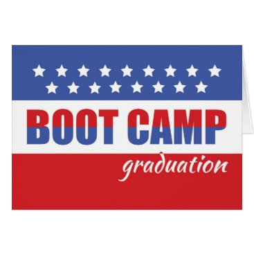 Boot Camp Graduation Congratulations with Stars Card