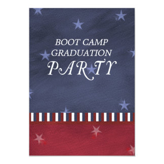 Boot Camp Graduation Party Invitation