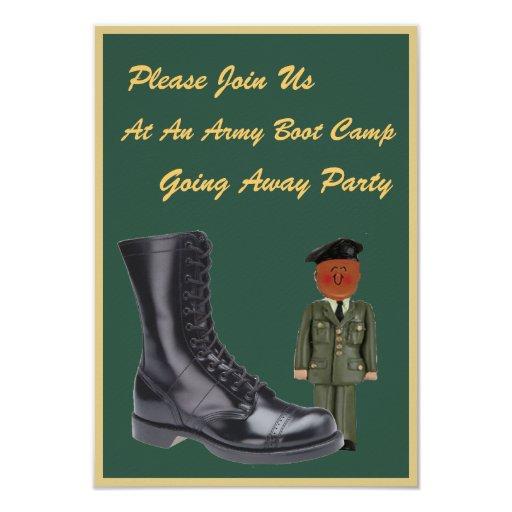 Boot Camp militar que va lejos invitaciones Invitación 8,9 X 12,7 Cm
