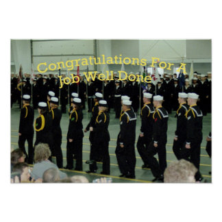 Boot Camp Navy Print