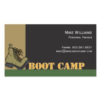 Boot Camp - negro Tarjetas De Visita