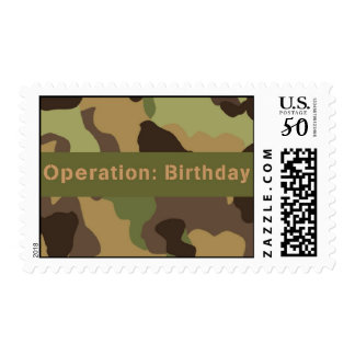 Boot Campt Camouflage Party Postage