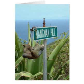 Boot on Hangman Hill Card