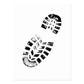 boot print postcard