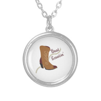 Boot Scootin Round Pendant Necklace
