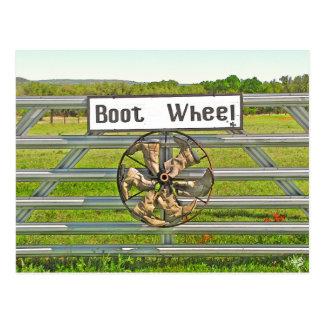Boot Wheel on Hwy 290 near Johnson City, TX Postcard