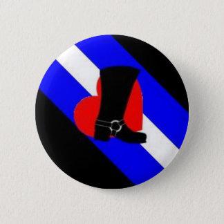 bootblack pride flag pinback button