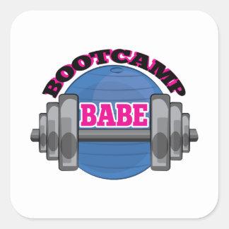 Bootcamp Babe Square Sticker