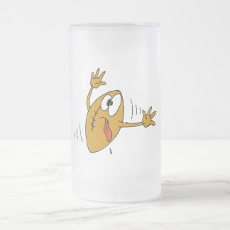 Booted Football 16 Oz Frosted Glass Beer Mug