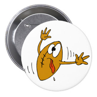 Booted Football 3 Inch Round Button