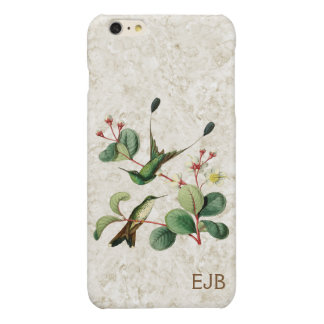 Booted Racket Tail Hummingbird Monogram Glossy iPhone 6 Plus Case