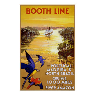 Booth Line to Portugal Madeira Poster