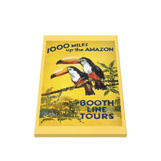 Booth Line Tours 1000 Miles Up the Amazon Vintage Canvas Print