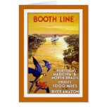""" Booth Line"" Vintage Travel Poster Card"