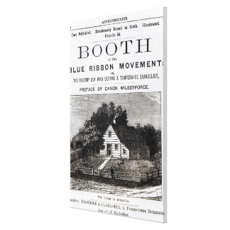Booth of the Blue Ribbon Movement, 1883 Canvas Print
