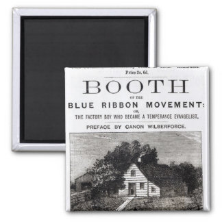 Booth of the Blue Ribbon Movement, 1883 Magnet