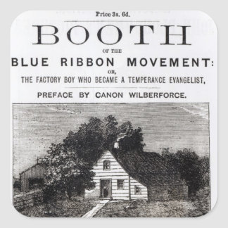 Booth of the Blue Ribbon Movement, 1883 Square Sticker