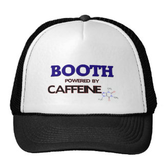 Booth powered by caffeine trucker hats