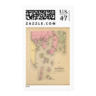 Boothbay, adjacent islands postage