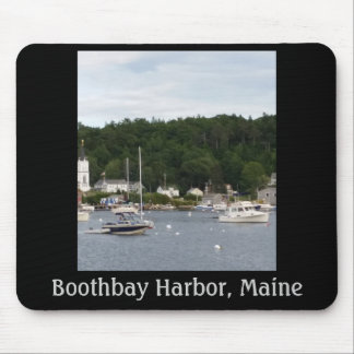 Boothbay Harbor, Maine Boats Mousepad