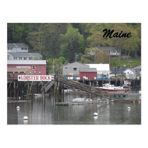 Boothbay Harbor Maine Postcard