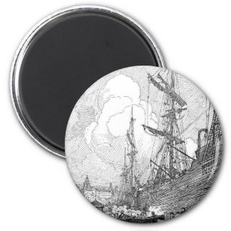 Booth's 1914 landscapes and boats 2 inch round magnet
