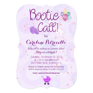 """""""bootie call"""" baby shower invitation"""