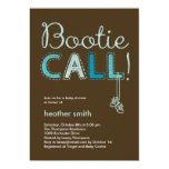 "Bootie Call Baby Shower Invitation - Blue 5"" X 7"" Invitation Card"