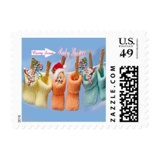 Booties Baby Shower Postage