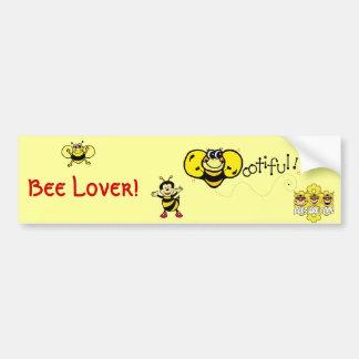 Bootiful Bee Car Bumper Sticker