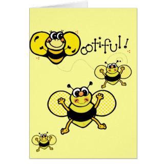 Bootiful Bee Greeting Cards