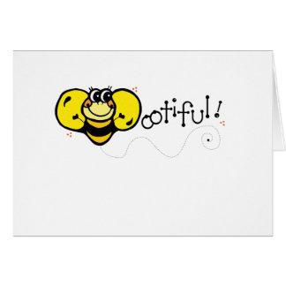Bootiful Bee Greeting Card