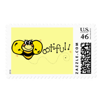 Bootiful Bee Postage Stamp