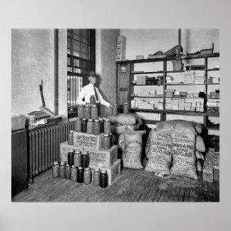 BOOTLEG BUST - JAIL EVIDENCE ROOM 1929 POSTER