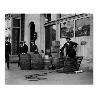 Bootleg Liquor Raid 1923 Print