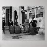 Bootleg Liquor Raid, 1923 Print