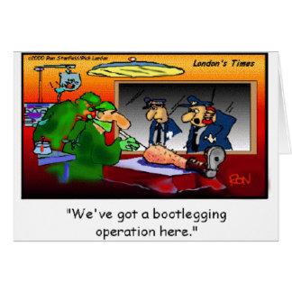 Bootleg Operation Funny Cartoon Tees & Gifts Card
