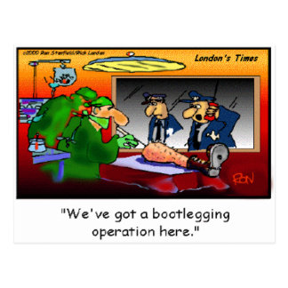 Bootleg Operation Funny Cartoon Tees & Gifts Post Cards